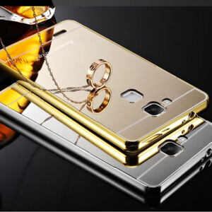 2028699a685 Luxury Aluminum Metal Mirror Case PC Back Cover Skin For Huawei LG ...