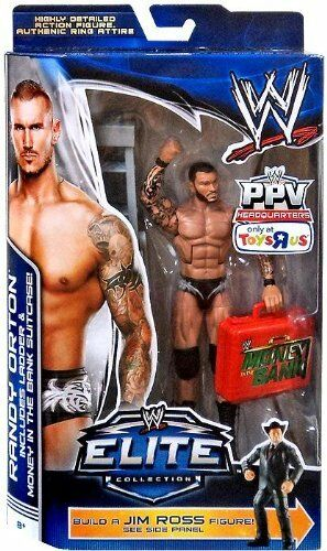 WWE ELITE RANDY ORTON BUILD A JIM ROSS FIGURE BOPPV TRU EXCLUSIVE BAF US VERSION