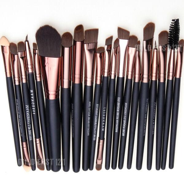 Pro Makeup 20pcs Brushes Set Eyeshadow Eyeliner Lip Brush Powder Foundation Tool