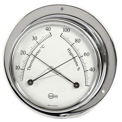 Barigo Maritimes Nautika Bootsport Haushalt Thermometer Hygrometer Tempo Chrom Offensichtlicher Effekt Bootsteile & Zubehör