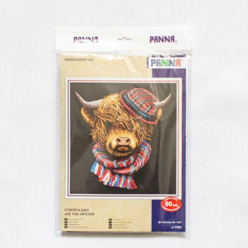 "Counted Cross Stitch Kit PANNA J-7202 /""Joe the Hipster/"""