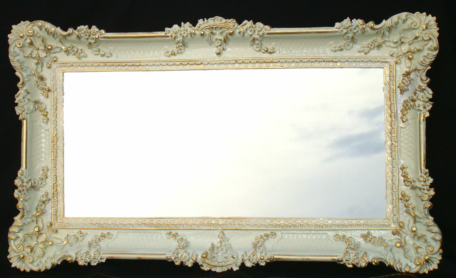 renaissance wall mirror white gold mirror shabby chic