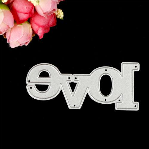 Greeting Words love Metal Cutting Dies For DIY Scrapbooking Card CraftN/_ES