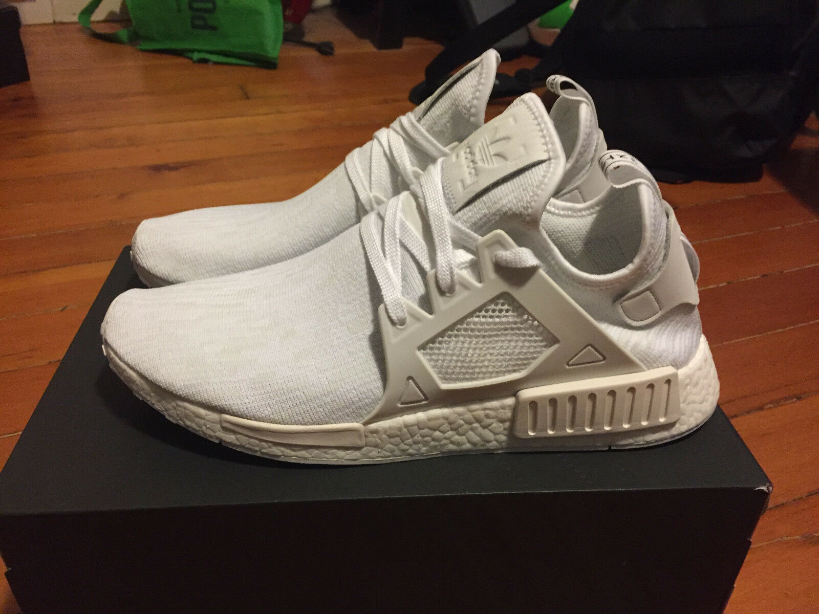 adidas Men's NMD XR1 Triple White Size 12.5 Deadstock