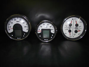 faria marine digital gauge set 3 piece 7 gauges w. Black Bedroom Furniture Sets. Home Design Ideas