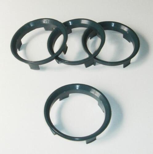 X4 grifo Anillos Para Aez Dotz Dezent 60 100 Mm para adaptarse a Bmw Serie 3 E30 57,1 mm