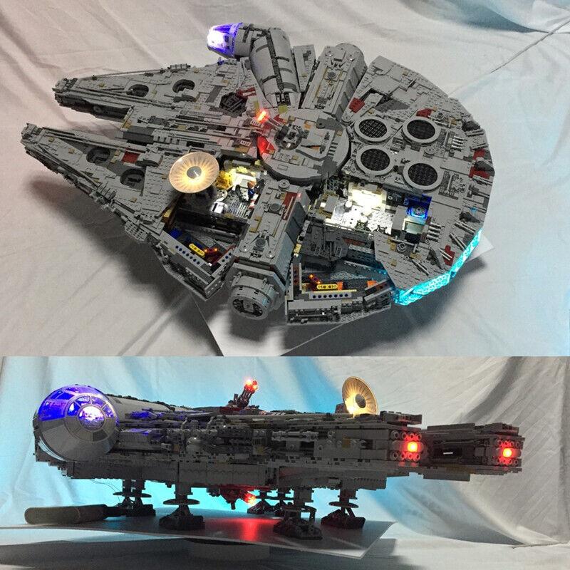 LED USB light kit for LEGO 75192 Star War Falcon Falcon Falcon Millennium Advanced Version set 430130