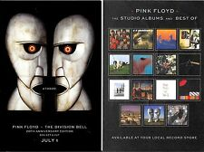 "PINK FLOYD - The Division Bell - (Two - 20th Anniversary Promo 4"" x 6"" Stickers)"