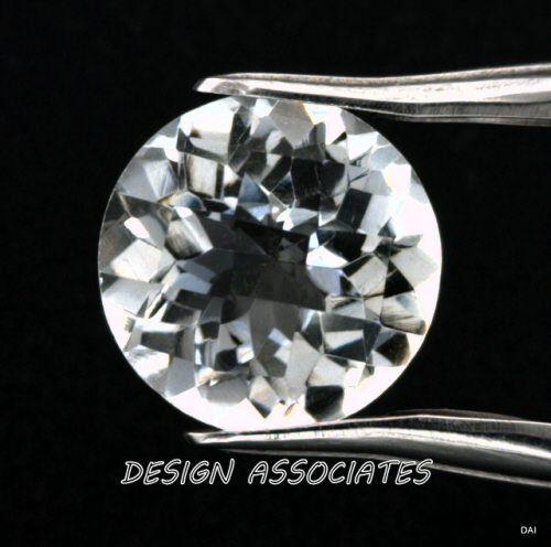 DIAMOND QUARTZ 11 MM ROUND CUT CHECKERBOARD TOP  ALL NATURAL AAA