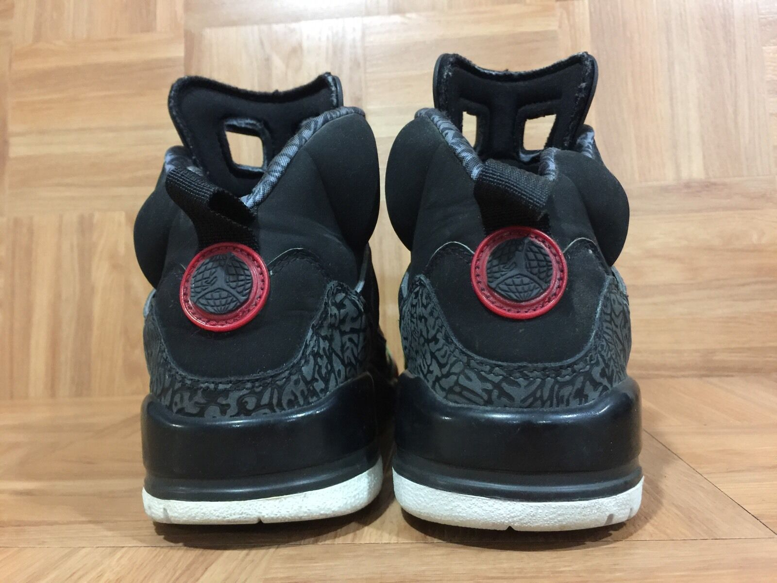 RARE RARE RARE Nike Air Jordan Spizike Black Varsity Red Classic Green Sz 9 315371-061 1223f8