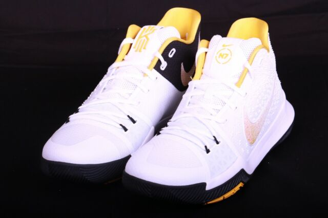 purchase cheap 48f1e 020c8 Nike Mens Kyrie III 3 N7 Size 13 White Varsity Maize Basketball Shoes  899355 117