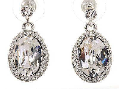 Fashion Jewelry Swarovski Elements Crystal Calista Christie Halo Earrings Rhodium Plated 7160c To Clear Out Annoyance And Quench Thirst