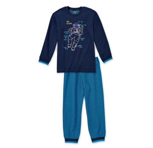 SCHIESSER Jungen Schlafanzug RAUMFAHRT Pyjama lang 104 116 128 140 Nachtwäsche