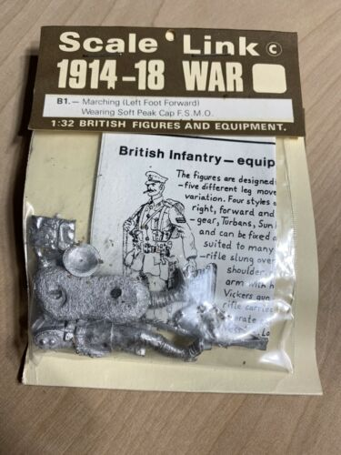 Scale Link 1914-18 WAR B1 Marching 1:32 British Lead Figures