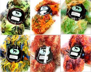 Dark-Horse-Yarns-Soft-Super-Bulky-Long-Eyelash-Yarn-100g-Yarn-Color-Choice