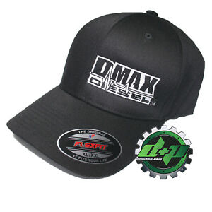 b3994558 Details about XL/XXL DMAX Diesel Flexfit fitted stretch trucker black cap  hat Chevy Duramax