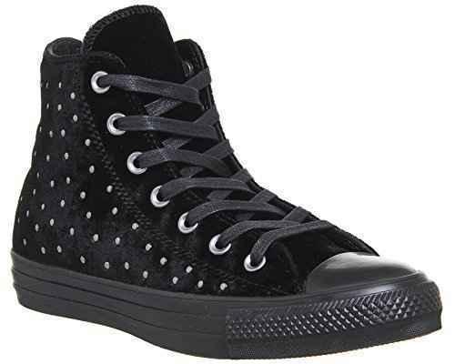 shoes Converse Tout Star CT Hi 558991C baskets femme black velvet clous