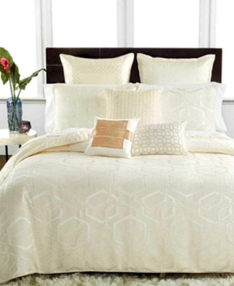 Hotel Collection Verve King Pillowsham Textured Quilted in Ivory