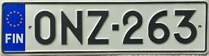 GENUINE-Finland-EU-Stars-License-Licence-Number-Plate-Finish-Tag-ONZ-263