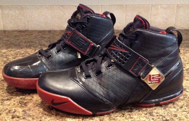 pretty nice 0a9a6 7cfea Nike Zoom Lebron V 5 Black/Crimson/Gold- Men's 317253 001 Sz 11