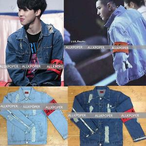 Kpop Bts Jimin Denim Jacket Exo Luhan Kris Coat Bangtan Boys Wings