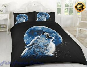 3D-WOLF-MOONLIGHT-LUXURY-PRINTED-DUVET-COVER-BEDDING-SET-PILLOW-CASE-ALL-SIZES