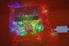 RGB LED CHRISTMAS XMAS TREE LIGHTS DECORATION 20 GOLD BALLS LIGHTS,4 METERS