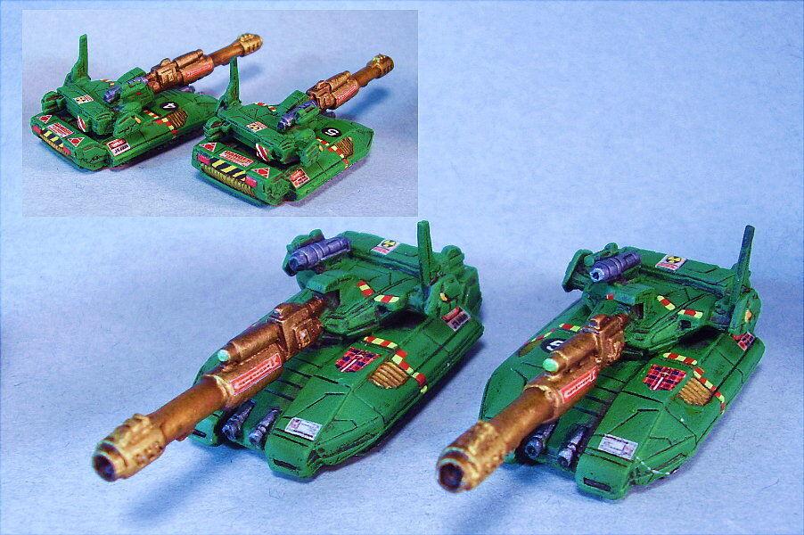slåsstech målade Rommel Howitzer tankar (2) NH