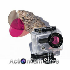 MAGENTA GEL FILTER 20mm for GOPRO HERO2, HD HERO & 3D housing