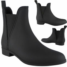 Womens Ladies Ankle Wellies Wellington Rain Snow Chelsea Boots Ladies Shoes Size
