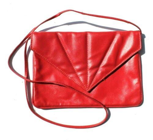 Vintage Red 1980s - 1990s Trendy Genuine Leather F