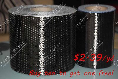 "Toray T700 200gsm Full Carbon Fiber 12k UNI Directional Cloth Fabric Tap 4"" wide"