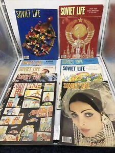 1982 Lot of (9) Vintage Soviet Life Magazine Soviet Union Russian Russia