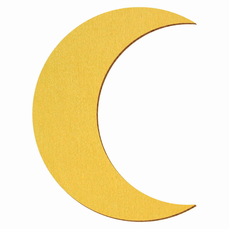 Goldener Holz Mond - 3-50cm Höhe  - Streudeko Basteln Deko Tischdeko | Spielzeug mit kindlichen Herzen herstellen  | Auf Verkauf