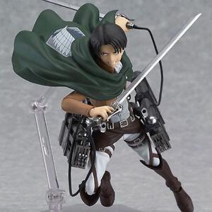 Attack-on-Titan-Figure-Levi-figma-Shingeki-no-Kyojin-Stylish-14cm-Action-213-PVC