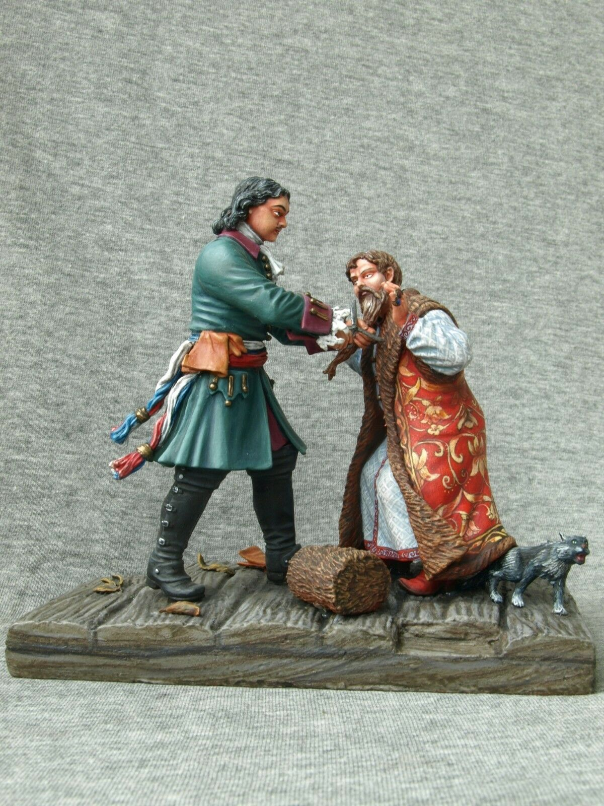 Shcherbakov-HQModels  Russian Tsar Peter 1 cuts the beard of the Lord 90 mm