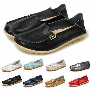 Ladies-Round-Toe-Womens-Vintage-shoes-Espadrilles-real-leather-Flats-UK-2-9