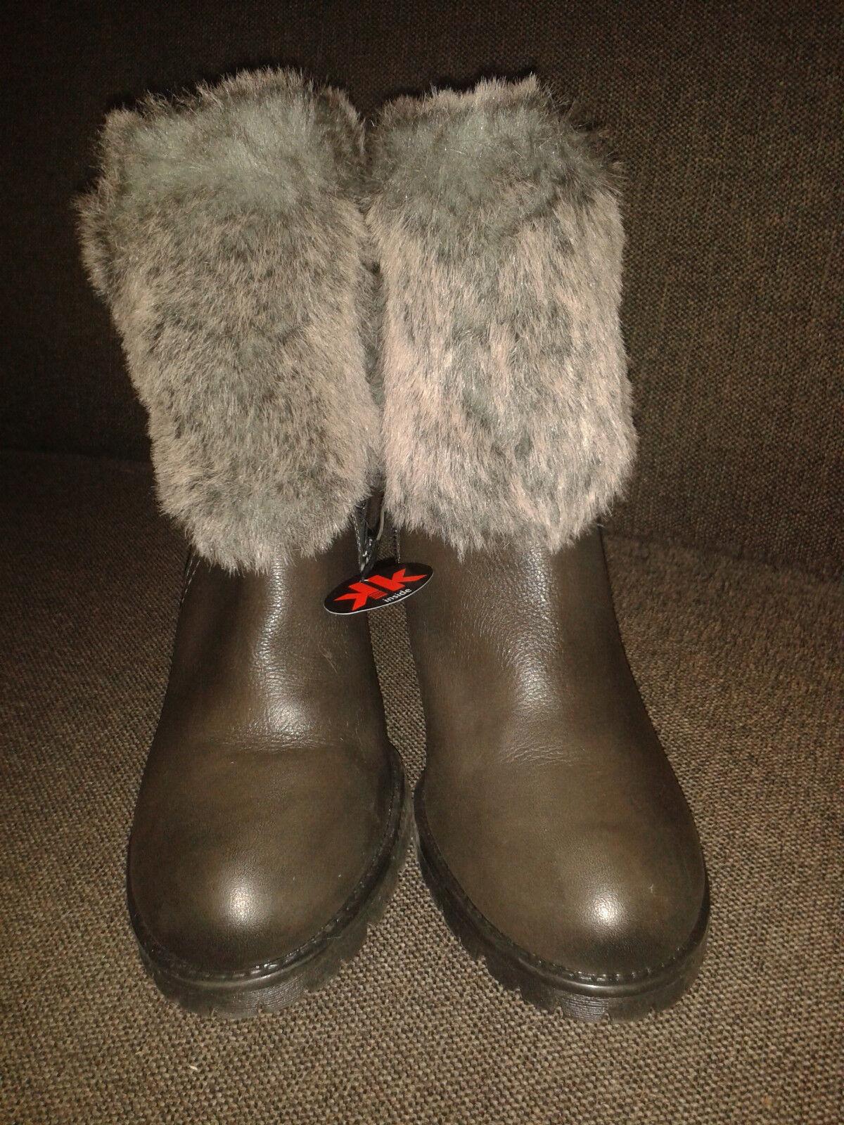 NEU   Tamaris Damenschuhe Winter mit Fell braun Größe 40 original