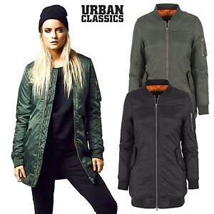 Symbol Der Marke Urban Classics Ladies Satin Bomber Jacket Jacke Tb1279 Flieger Pilot College Camping & Outdoor