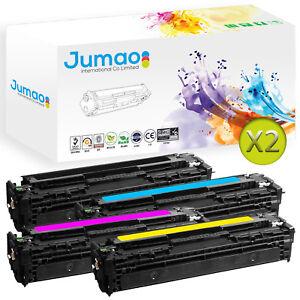 Lot-de-8-Toners-type-CB54-Jumao-pour-HP-Color-LaserJet-CP1215-CP1518ni-CP1515n