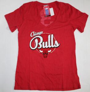 half off 93695 8b0d3 Details about Chicago Bulls Womens NBA Short Sleeve Baby Jersey V-neck WADE  LOGO W/#3 SZ L