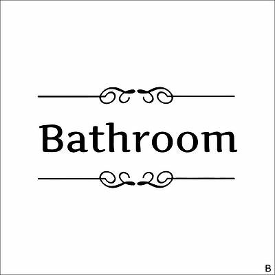Bathroom Door Sign Decoration Wall Art Vinyl Wall Stickers Decor Decal