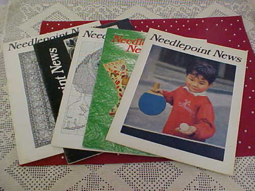 Vintage Needlepoint News s Lot of 5 1976 Charts Patterns Projects