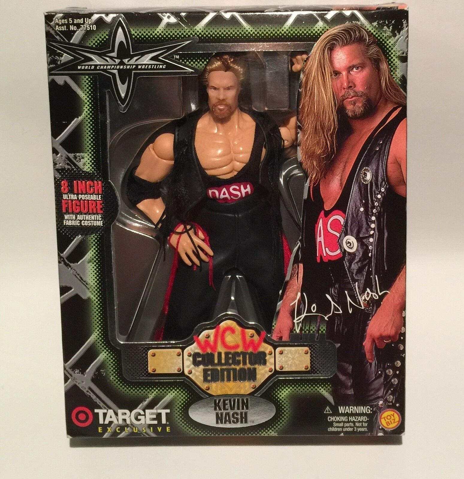 WCW Toy Biz Kevin Nash Deluxe Collectors Edition 8    Wrestling Figure MIB 311b45