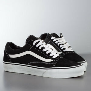 Vans Old Skool Black White Unisex Trainers Ebay