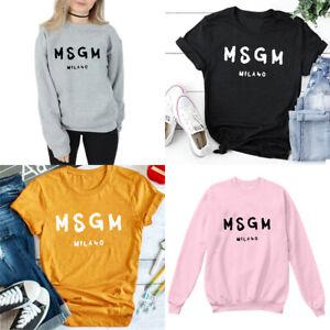 cb14a5e09 Image is loading Msgm-Milano-Tshirt-Sweatshirt-Unisex-Tee-Pullover-Funny-