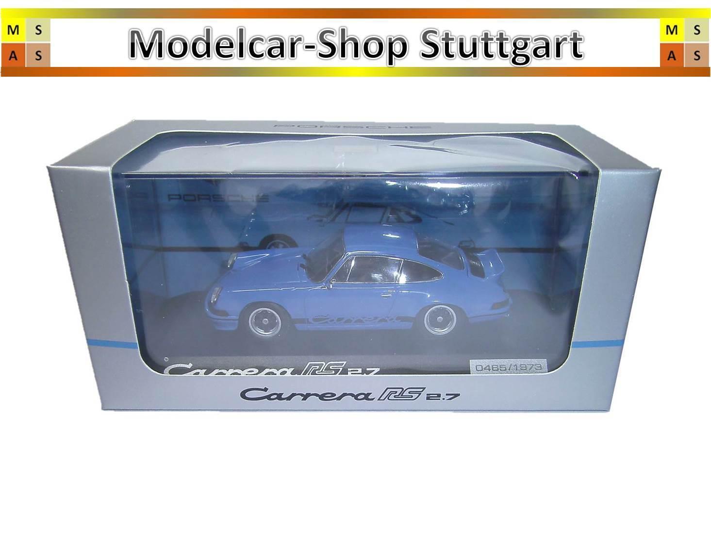 Porsche 911 Carrera RS 2.7 Année de construction 1980 glasurbleu-Minichamps 1 43 wap0201420h
