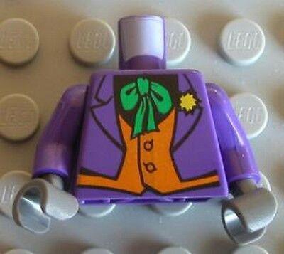 Lego New Dark Purple Minifig Torso Batman Suit with Lavender Lapels Striped Vest