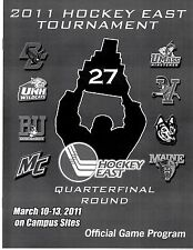 2011 HOCKEY EAST TOURNAMENT QUARTERFINALS PROGRAM College D-I Mint UNH ME MA UVM