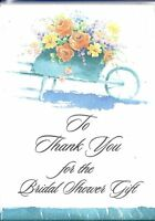 Thank you for the Bridal Shower Gift Garden Flowers 8 count Note Cards New